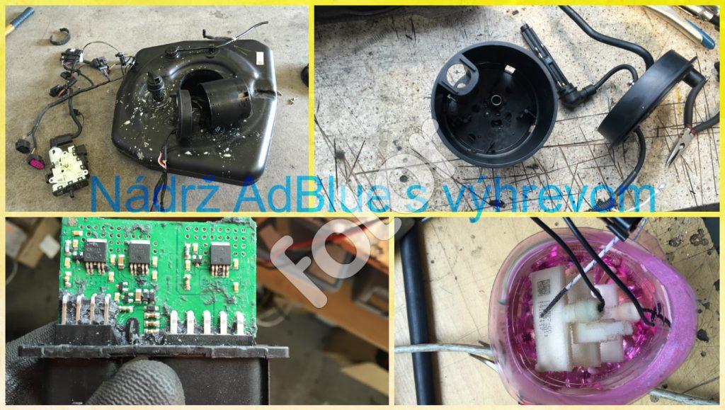 oprava systému výhrevu nádrže adblue